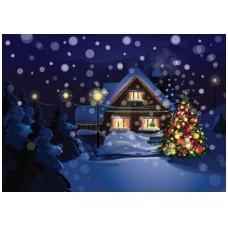 Kalėdinis sveikinimo atvirukas 2007.8272 su tekstu