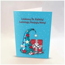 Kalėdinis sveikinimo atvirukas be voko 2007.9476