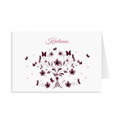 """Kvietimas """"Purpurinės gėlės ir drugiai"""", 3008.9573"""