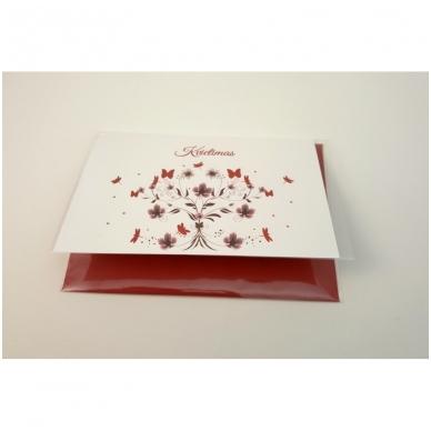 """Kvietimas """"Purpurinės gėlės ir drugiai"""", 3008.9573 5"""