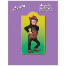 """Magnetinis skirtukas """"Beždžionėlė su bantu"""""""