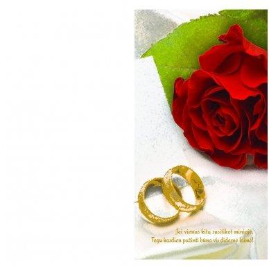"""Sveikinimo atvirukas """"Vestuvių proga"""" 3"""
