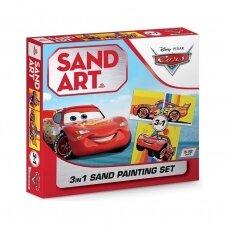 """Trijų dalių piešimo smėliu rinkinys """"Makvynas"""""""