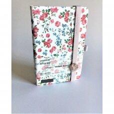 """Užrašų knygutė su guma """"Bloomy rose"""""""