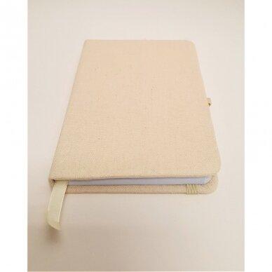 Užrašų knygelė drobiniais viršeliais su gumele 4