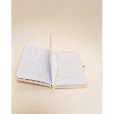 Užrašų knygelė drobiniais viršeliais su gumele 3